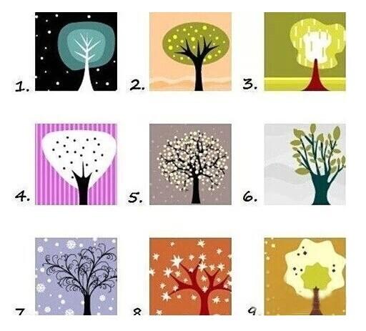 你会躲在哪棵树后?